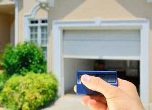 Opening a residential garage door with remote